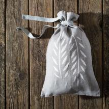 Kenyértartó zsák szürke-fehér, kicsi