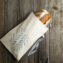 pamutvászon kenyérzsák, kék, kicsi