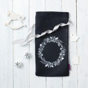Karácsonyi díszcsomagolás - fekete