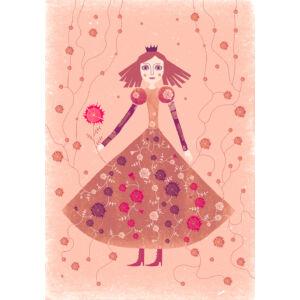 Rózsaszín királynő keretben