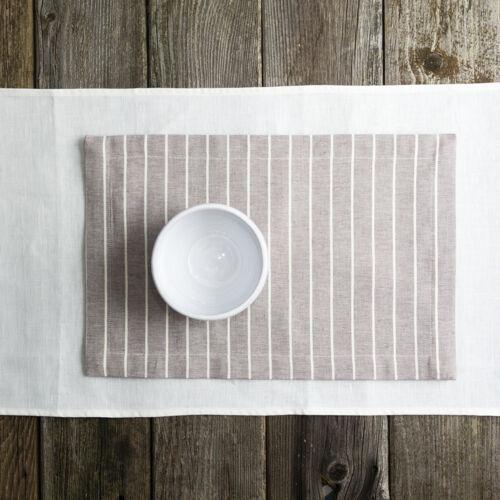 tányéralátét csíkos lenvászon